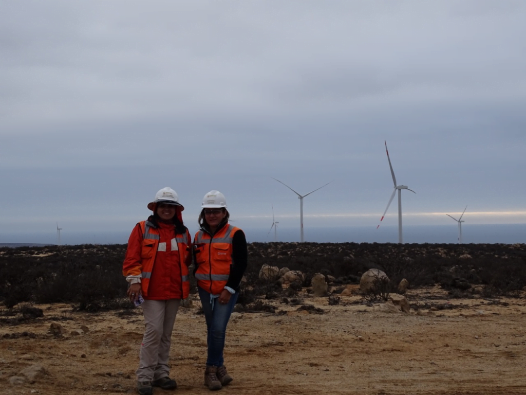 Pictured: Jassy Veloso, Construction Site Manager at Mainstream Renewable Powers's Alena Wind Farm (86 MW) in Chile