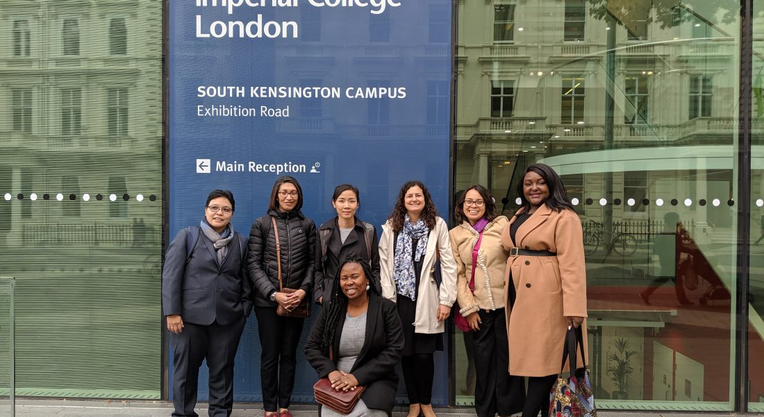 Arriving to the campus of Imperial College London.