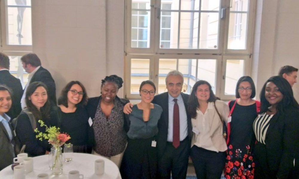 The group with IEA Executive Director Fatih Birol.