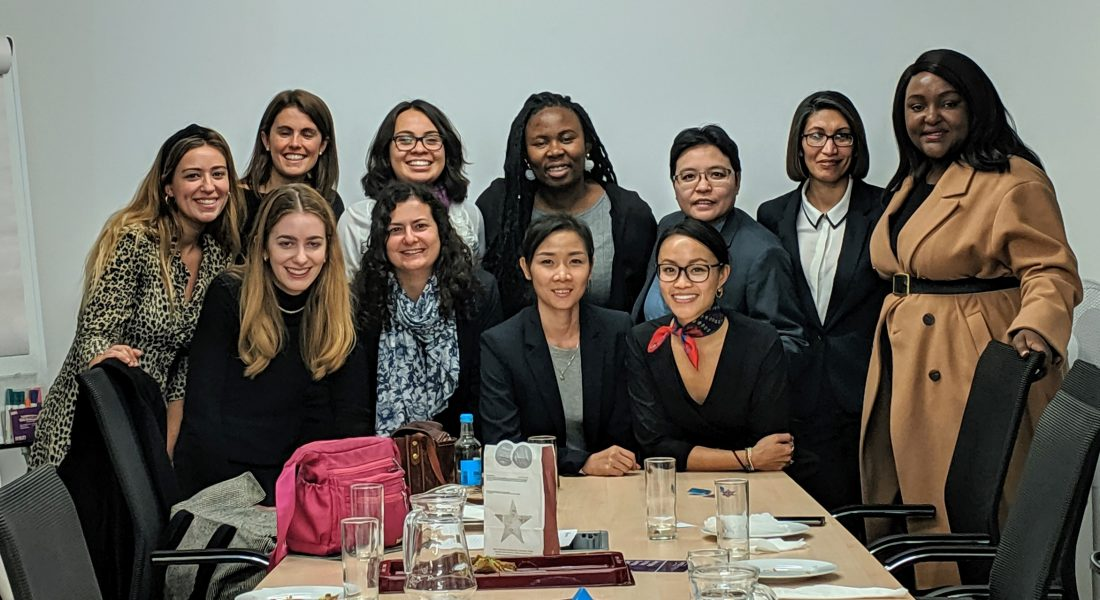 The group at RenewableUK with Alicia Green, Marina Valls, Chief Economist, RenewableUK, and Sophie Banham, Leading Business Developer, Equinor.